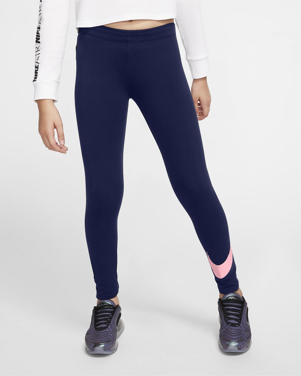 Легинсы детские Nike Favorites Swoosh Tight blue void/arctic punch