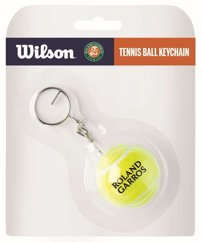 Брелок Wilson Tennis Ball Keychain Roland Garros yellow