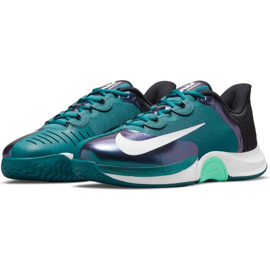 Теннисные кроссовки мужские Nike Air Zoom GP Turbo dark teal green/white/black