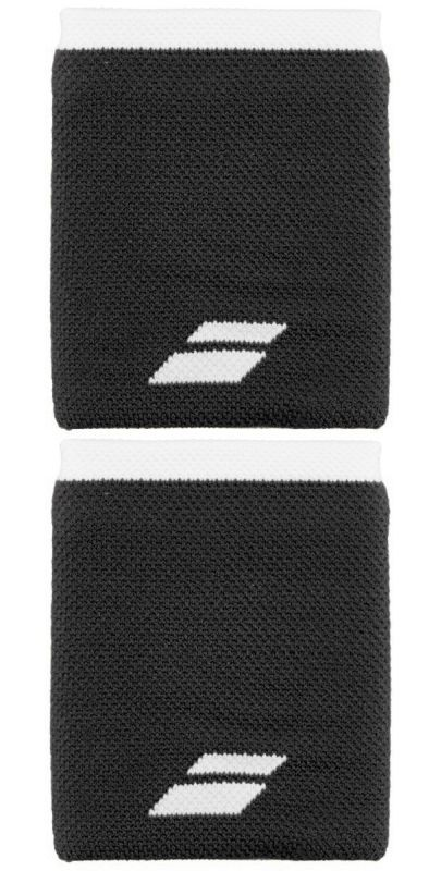 Напульсник Babolat Logo Jumbo Wristband black/white