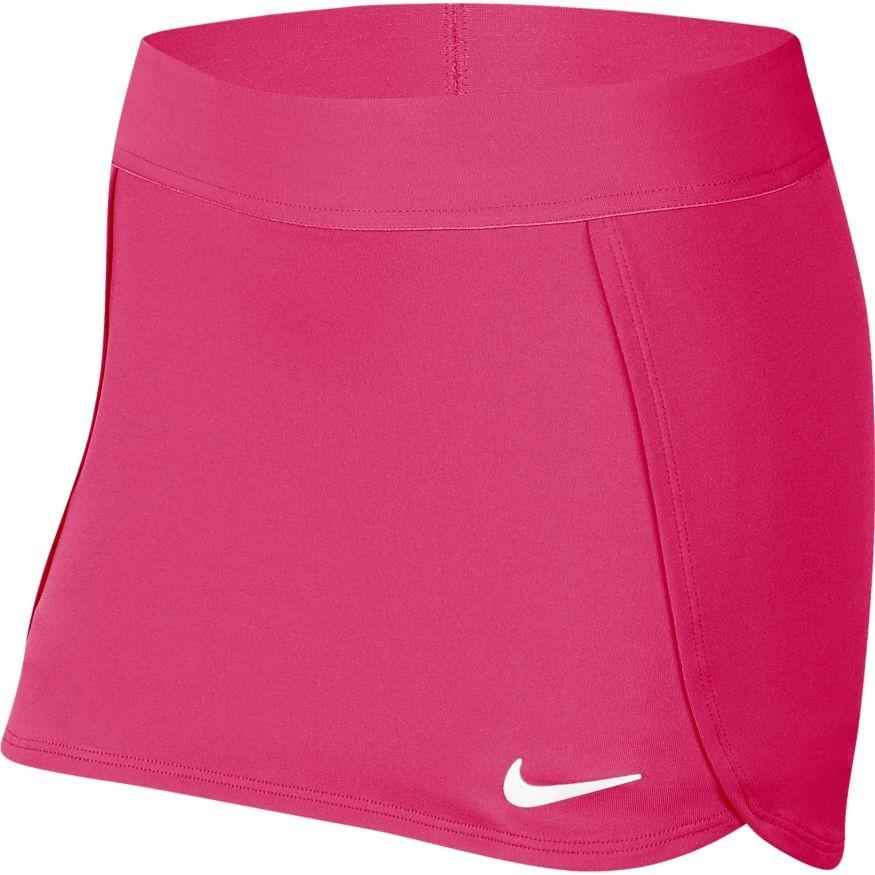 Теннисная юбка детская Nike Court Skirt STR vivid pink/white