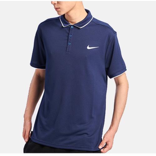 Теннисная футболка мужская Nike Court Dry Polo blue recall