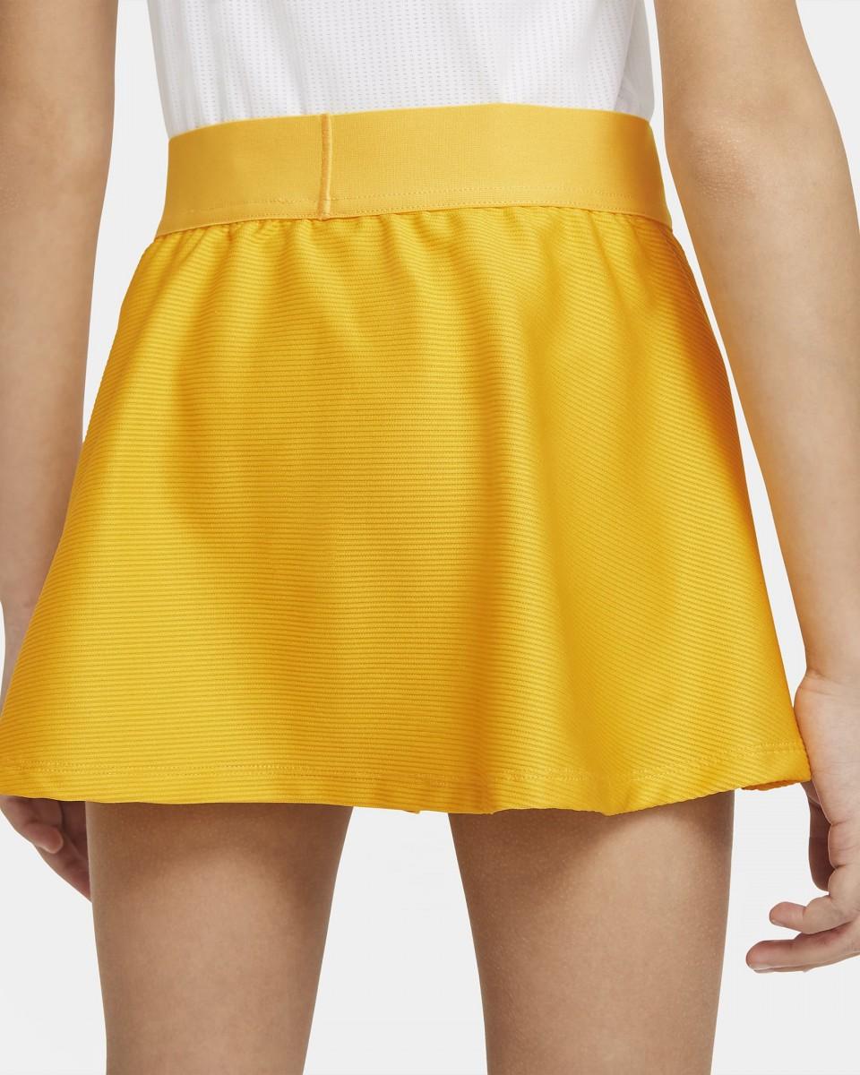 Теннисная юбка детская Nike Court Victory Flouncy Skirt university gold/black