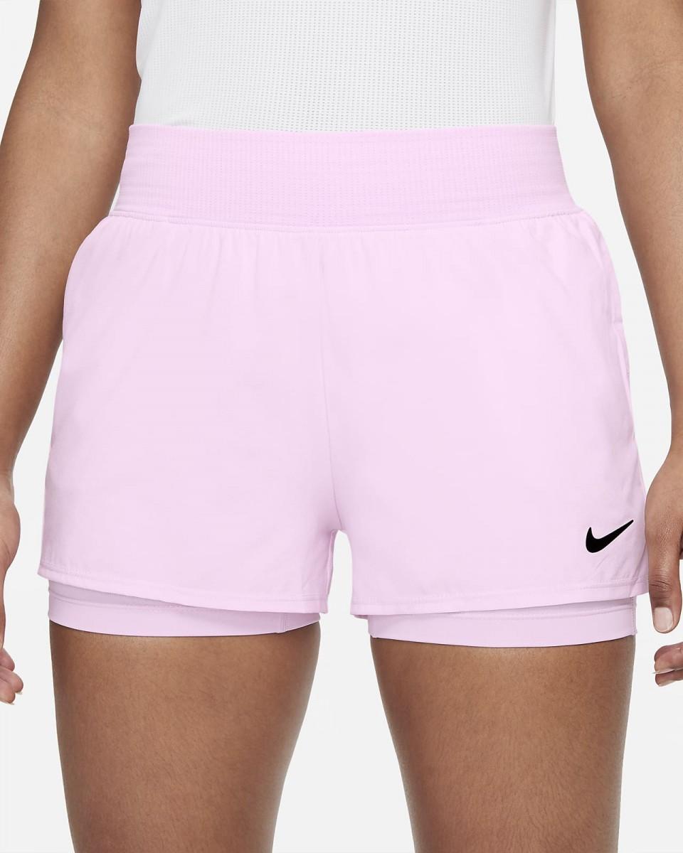 Теннисные шорты женские Nike Court Victory Short regal pink/black