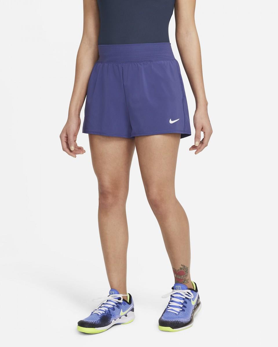 Теннисные шорты женские Nike Court Victory Short dark purple dust/white