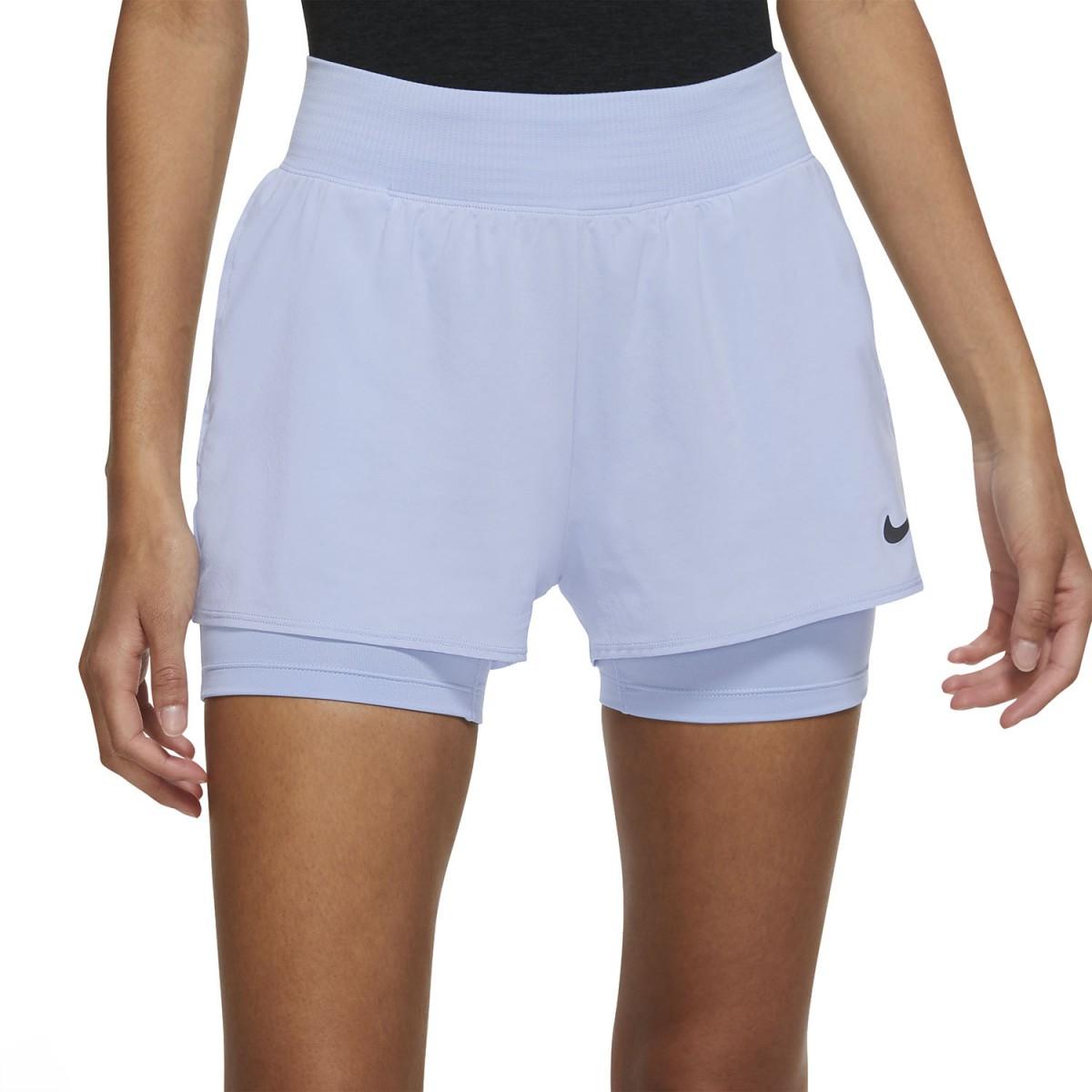 Теннисные шорты женские Nike Court Victory Short aluminum/black