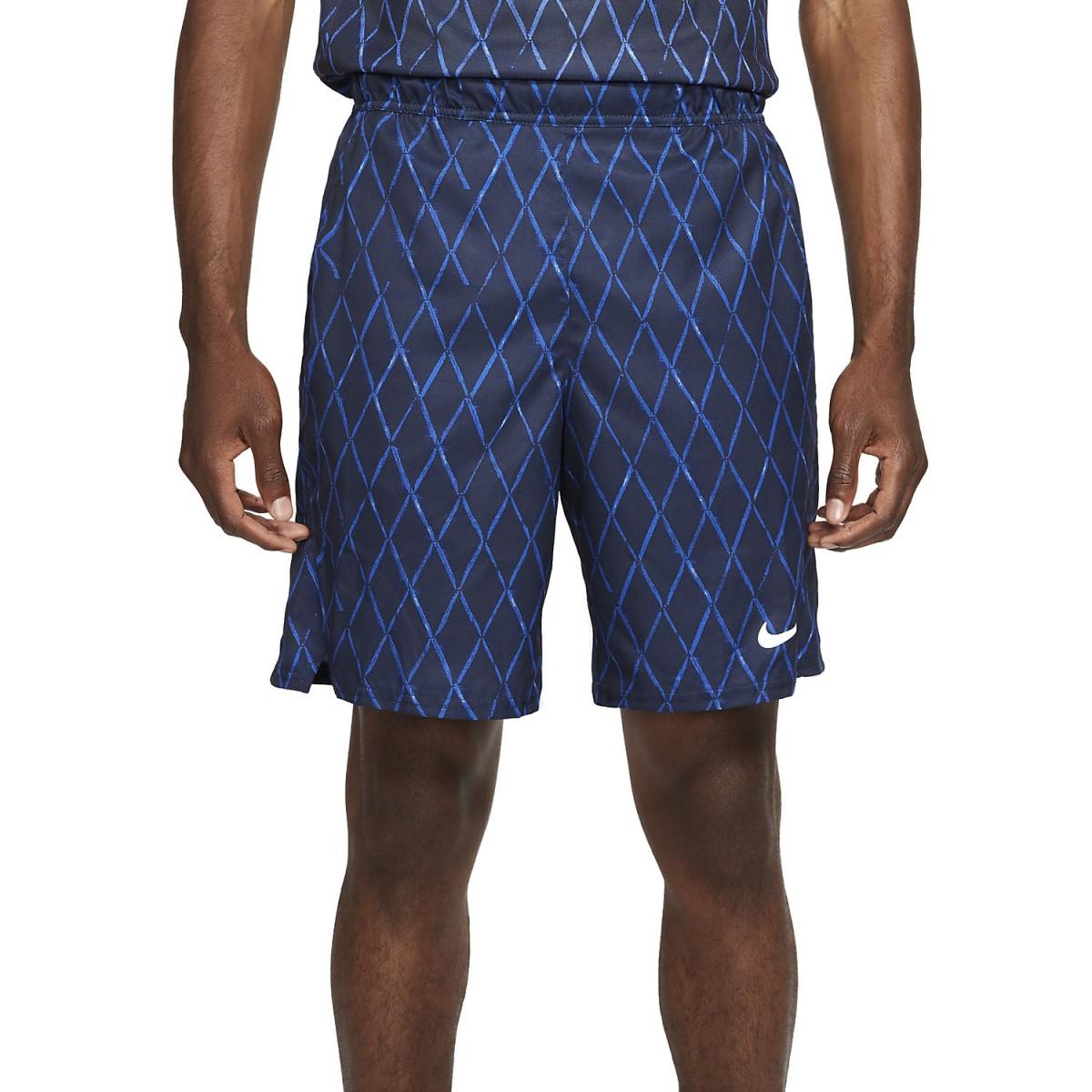 Теннисные шорты мужские Nike Court Victory Short 9in Printed obsidian/white