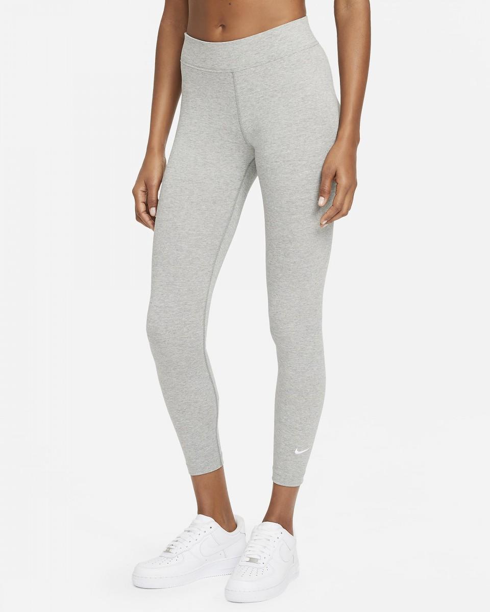 Леггинсы женские Nike SportsWear Essential Women's 7/8 Mid-Rise Leggings dark grey heather/white