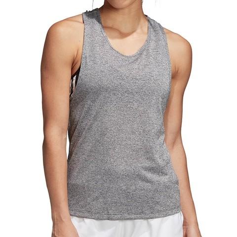 Теннисная майка женская Adidas Club Tie Tank dark grey heather