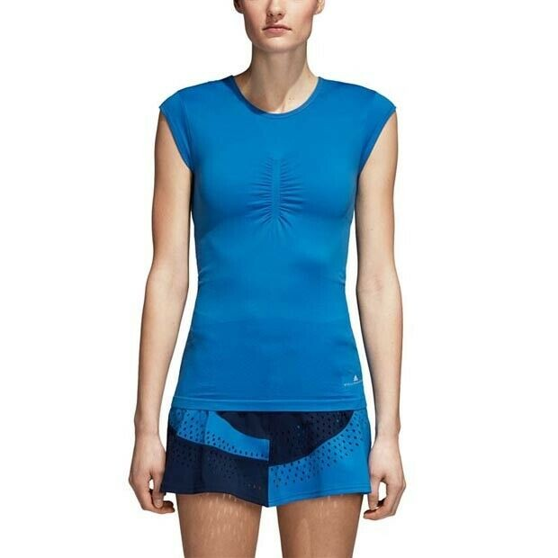 Теннисная майка женская Adidas Stella McCartney Tee ray blue