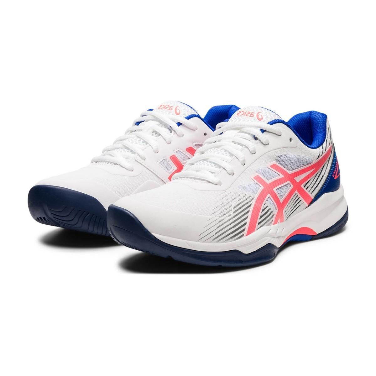 Теннисные кроссовки женские Asics Gel-Game 8 white/blazing coral