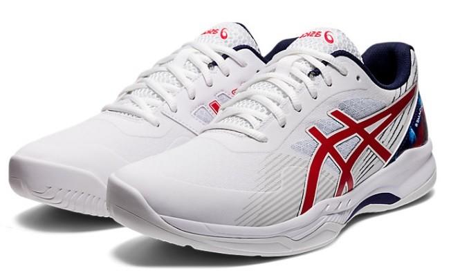 Теннисные кроссовки мужские Asics Gel-Game 8 L.E. white/classic red