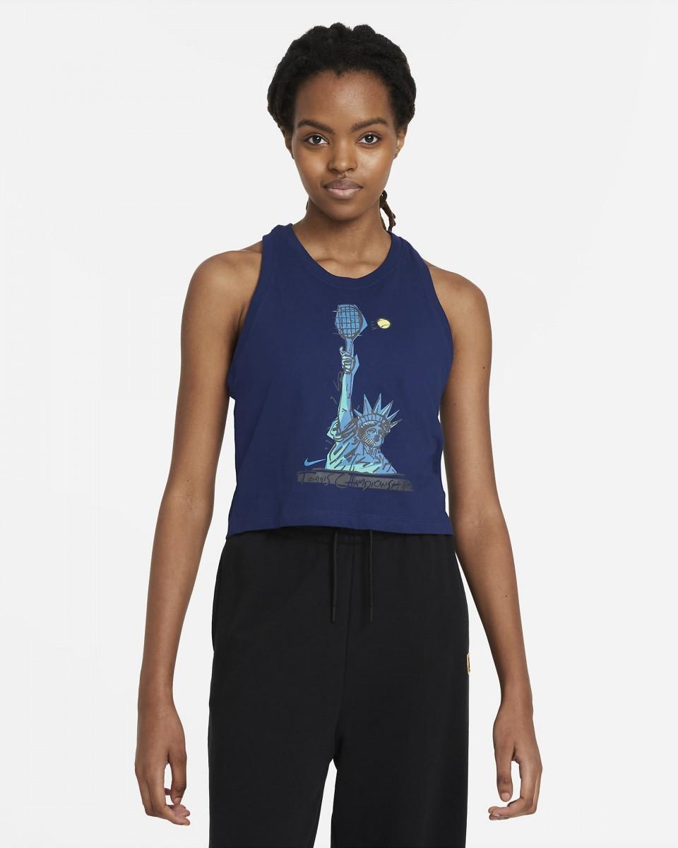 Теннисная майка женская Nike Court Tank NYC Liberty binary blue