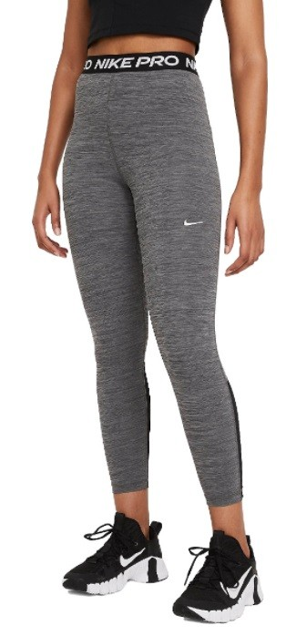 Леггинсы женские Nike Pro 365 Tight 7/8 Hi Rise black/heather/white