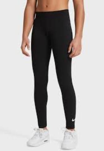 Легинсы детские Nike Sportswear Favorites Swoosh Leggings black/white