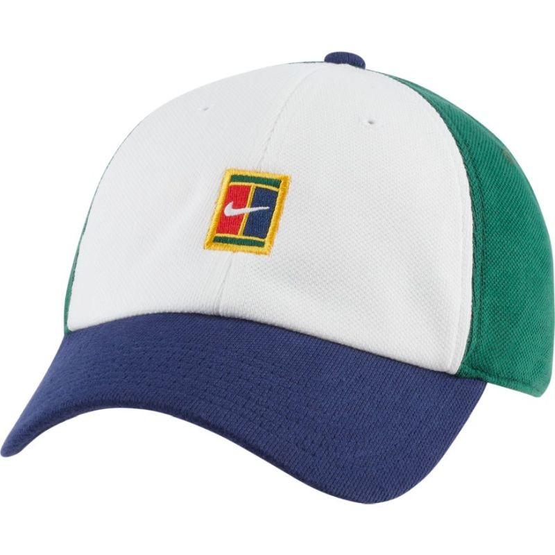 Теннисная кепка Nike H86 Court Logo Cap white/binary blue/gorge green