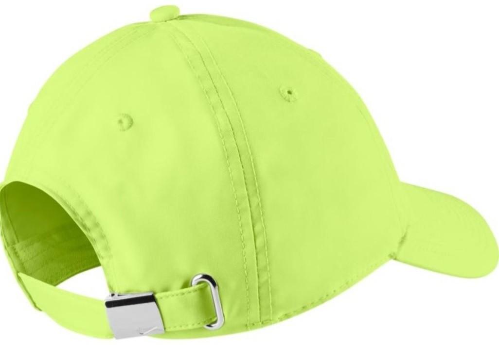 Теннисная кепка Nike H86 Metal Swoosh Cap lime/metallic silver