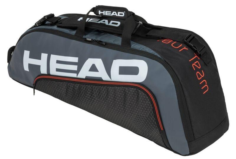 Теннисная сумка Head Tour Team 6R Combi black/grey