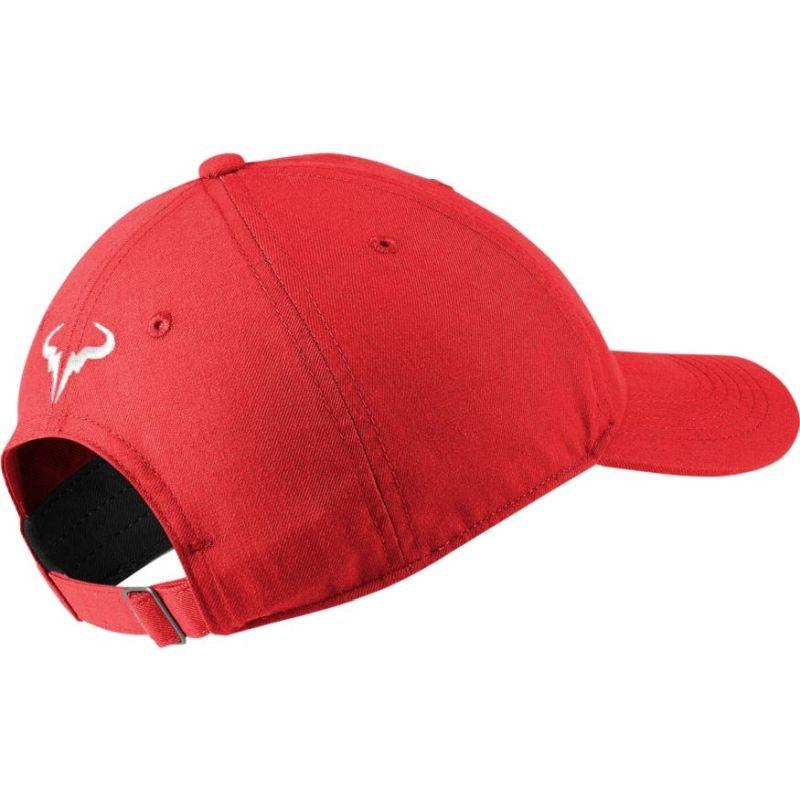 Теннисная кепка Nike Rafa U Aerobill H86 Cap chile red/white