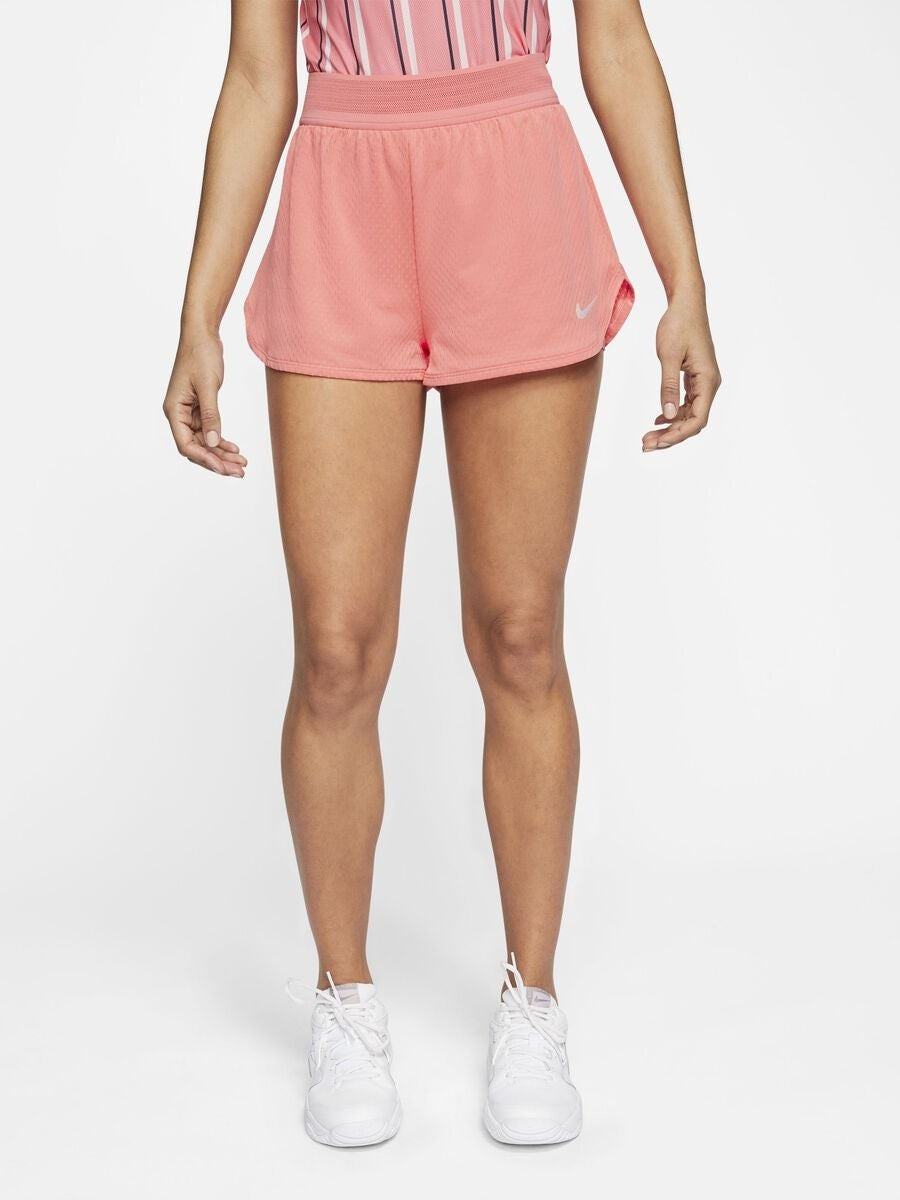 Теннисные шорты женские Nike Court W Dry Flex Elevated Essential Short sunblush/white